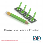 Reasons to Leave a Position